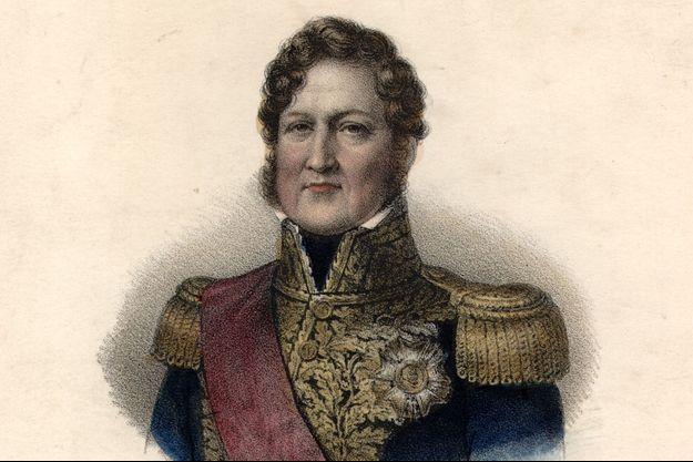 Gravure figurant le roi des Français Louis-Philippe