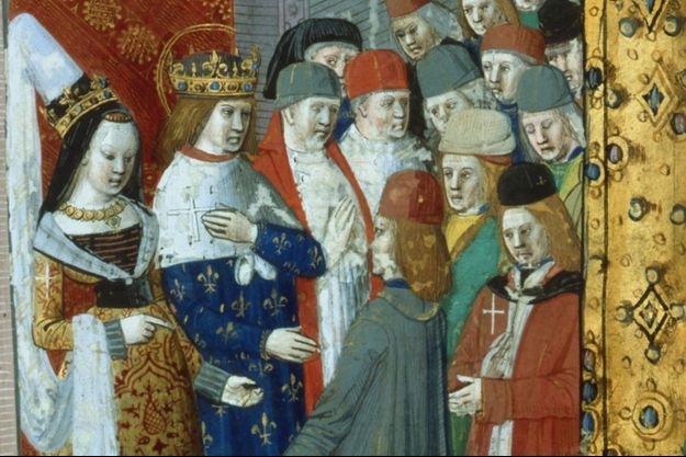Saint Louis et Marguerite de Provence partent pour la croisade.