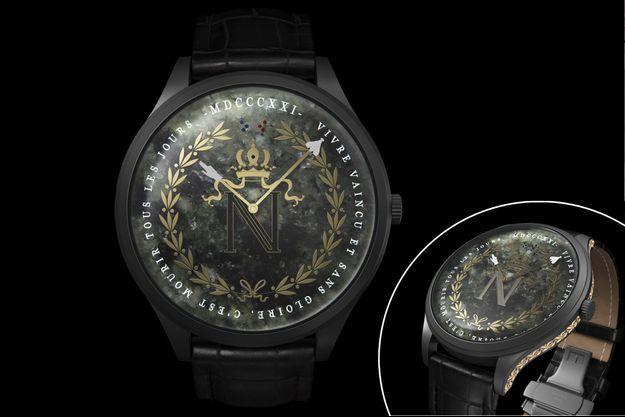 """La montre """"Napoléon 1821"""" de la maison horlogère belge Col&MacArthur, lancée le 5 mai 2021"""