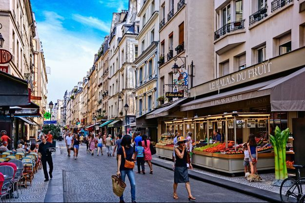 Illustration du marché de Montorgueil.