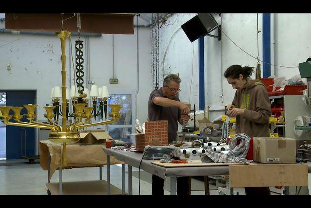 L'atelier de Jean Michel Delisle, bronzier d'art.