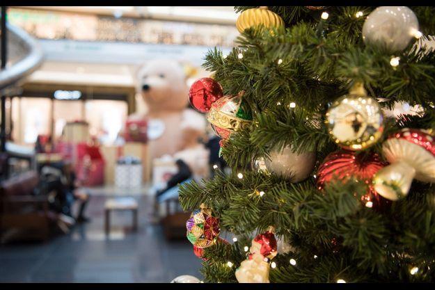 Image d'illustration. Ici des décorations de Noel dans un centre commercial de Berlin