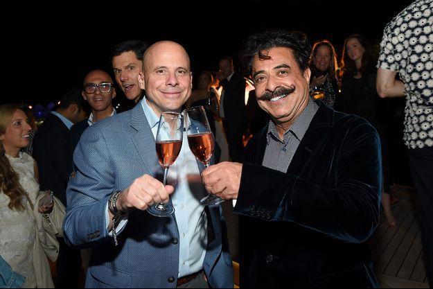 Christian Clerc (à gauche) et Shahid Khan.