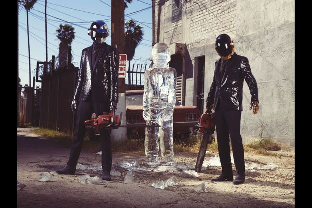 Les Daft Punk posent pour Match.
