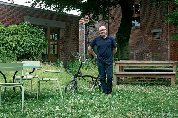 Le verger de l'usine Pocheco. Son patron, qui vit à 18 kilomètres, vient au travail à vélo.