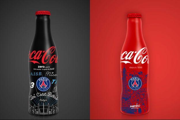 Les bouteilles du PSG, par Coca-Cola