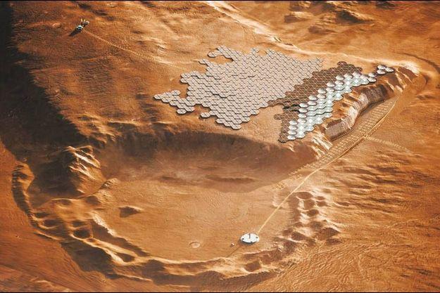 Les premiers habitats martiens sont prêts