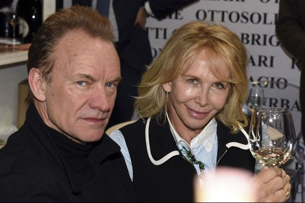 Sting et sa femme Trudie Styler.