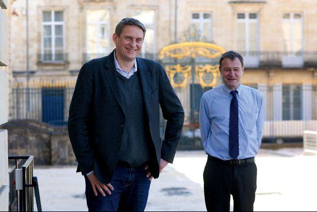 Nicolas Gaume, à g., et Emmanuel Etcheparre