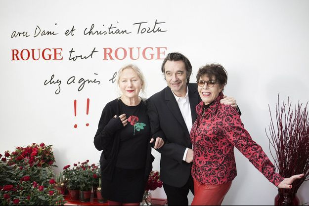 Agnès b., Christian Tortu et Dani.