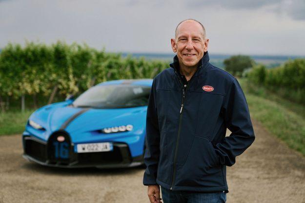 Andy Wallace et la Bugatti Chiron pur sport