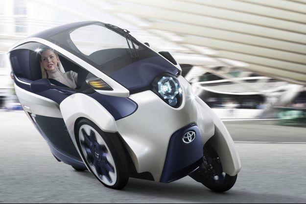 La Toyota I-Road, un des concept cars de la marque japonaise.