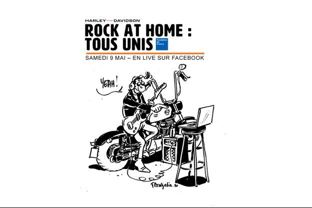 "L'affiche de ""Rock at Home"""