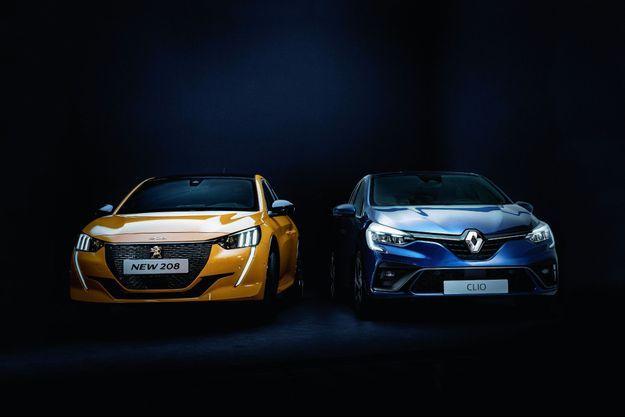 La Peugeot 208 électrique face à la Renault Clio hybride.