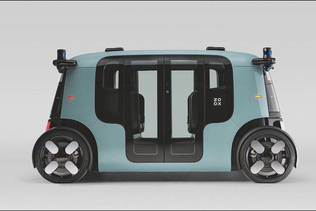 En partenariat avec Zoox, une filiale d'Amazon, ZF a développé ce robot-taxi électrique autonome.
