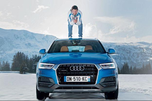 Le slamomeur français s'et amouraché de la Q3 Audi.