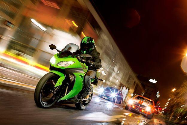 La Kawasaki Ninja en action
