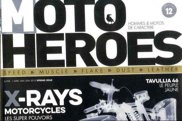 """La couverture de """"Moto Heroes""""."""