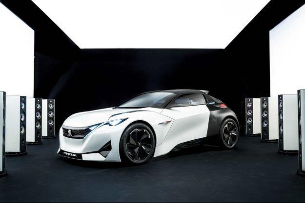 Le concept-car Peugeot Fractal.