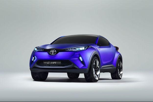 Une des images dévoilées par Toyota lundi. Le Toyota C-HR sera visible au salon de l'automobile de Paris.