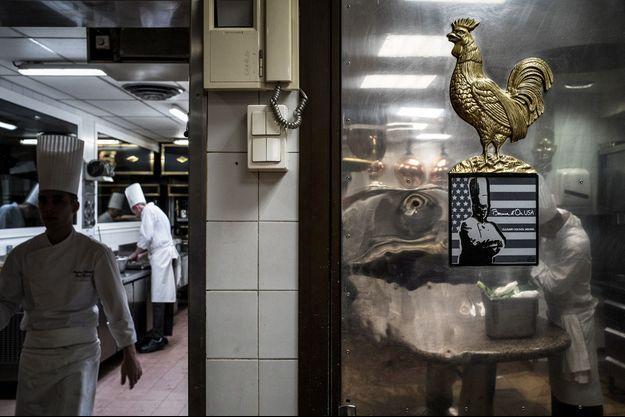 Dans le restaurant de Paul Bocuse, en janvier 2018, à Collonges-au-Mont-d'Or.