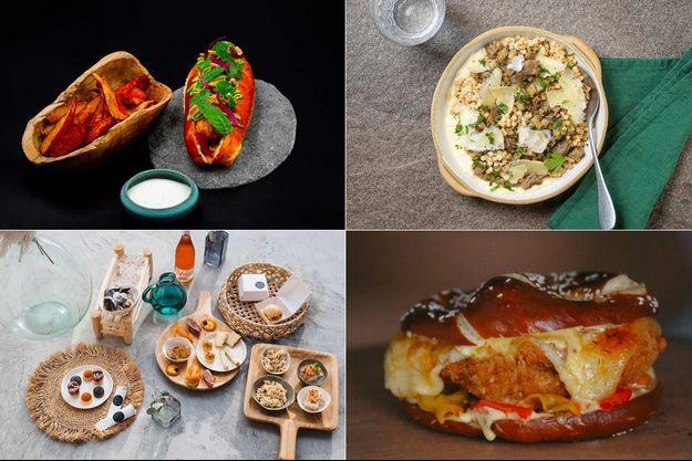 Quelques plats préparés par des actuels ou anciens candidats de «Top Chef».