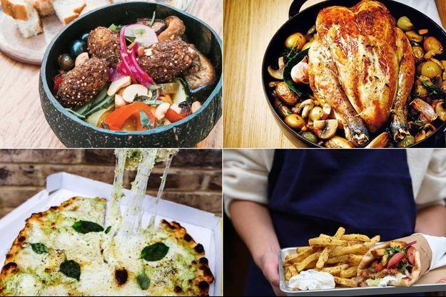 Sélection de restaurants proposant des plats à emporter ou en livraison.