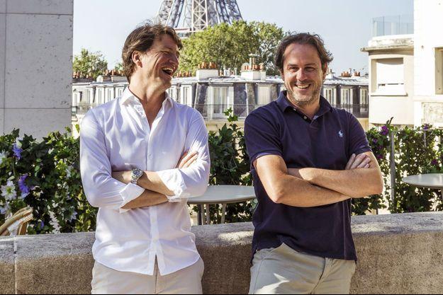 Sébastien Pacault, DG associé, et Laurent de Gourcuff, fondateur de Paris Society, sur la terrasse de Bambini au Palais de Tokyo.