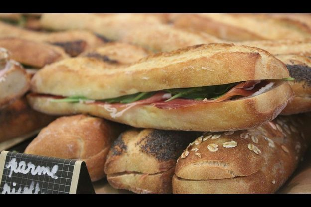 Les sandwiches de la sandwicherie Du Bout des doigts