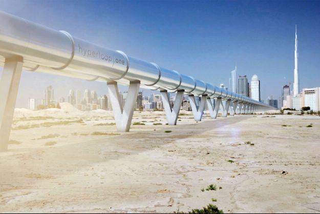 Illustration du tube Hyperloop One