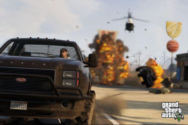 Une image tirée de GTA V.