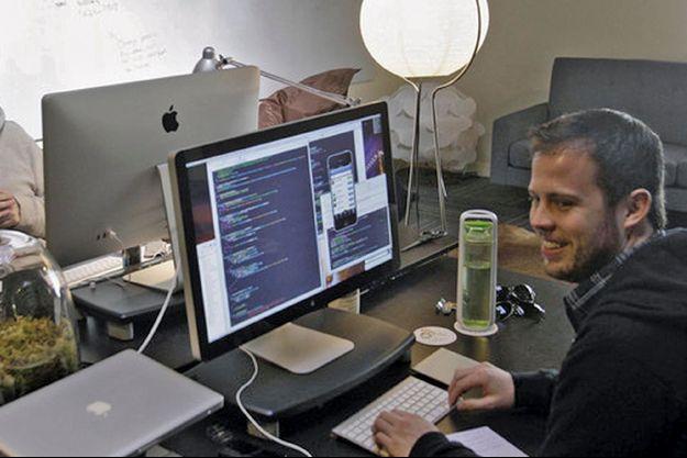 Kevin Systrom dans son bureau au siège de Palo Alto.