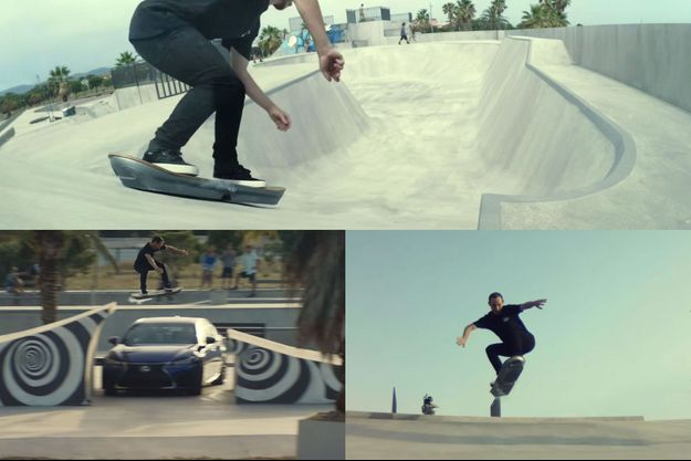 Captures d'écran tirées de la vidéo publiée par Lexus.