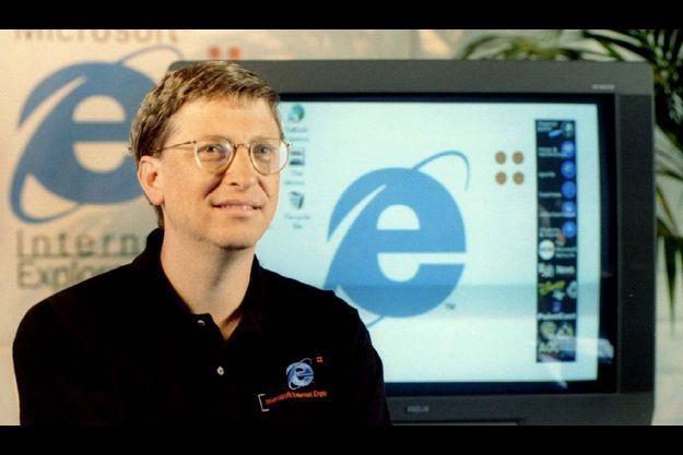 Bill Gates lors de la présentation d'Internet Explorer 4.0, le 30 septembre 1997 à San Francisco.