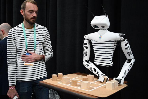 Un robot, créé par Pollen Robotics, au salon de la technologie à Las Vegas, le 6 janvier 2020.