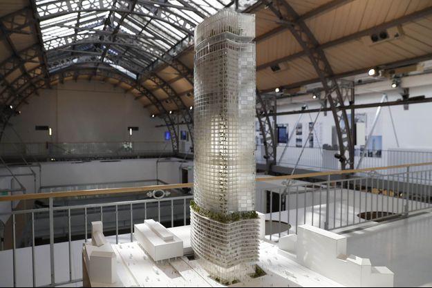 La maquette de la nouvelle Tour Montparnasse