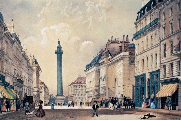 La rue de la Paix, comme elle était en 1837.
