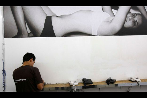 Un employé d'American Apparel dans son usine de downtown Los Angeles (photo d'illustration).
