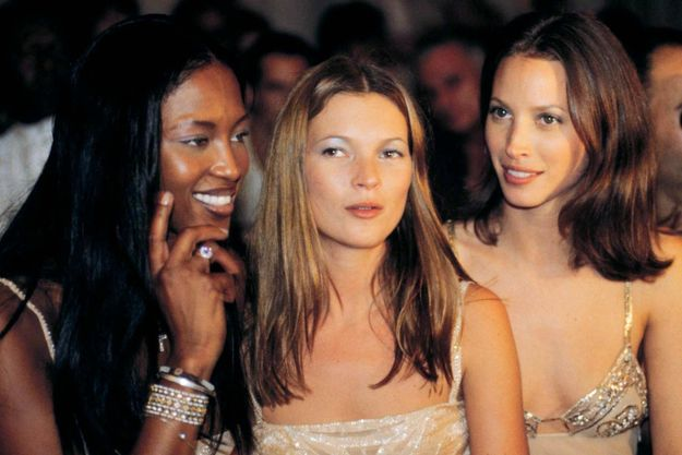 Naomi Campbell, Kate Moss et Christy Turlington en 1998.