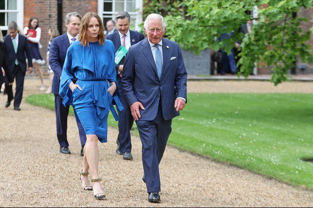 Stella McCartney avec le prince Charles au G7.