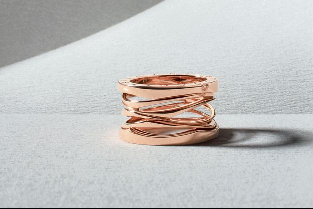 Bague B.zero1, en or rose, 4 rangs, Bulgari, 2 300 €.