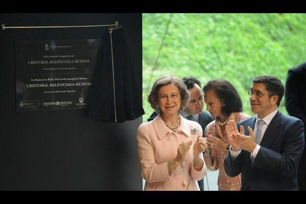 La Reine Sofia d'Espagne et le président du gouvernement basque, Patxi Lopez