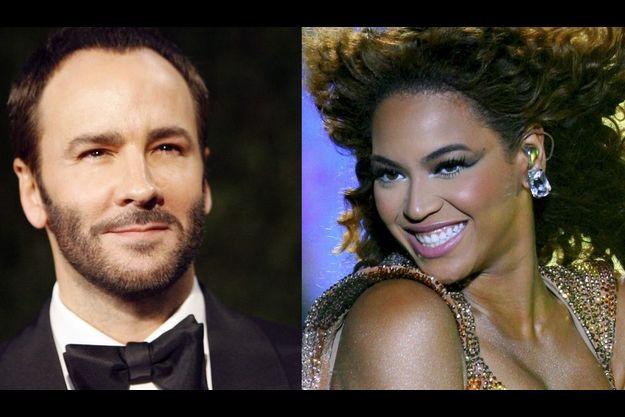 Le couturier Tom Ford et la chanteuse Beyoncé.