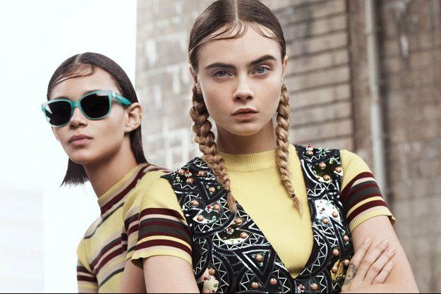 Cara Delevingne pour DKNY Printemps-Eté 2015