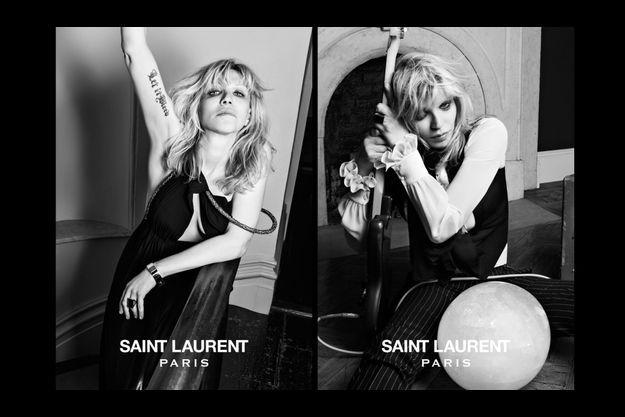 Courtney Love, immortalisée par Hedi Slimane pour Saint Laurent.