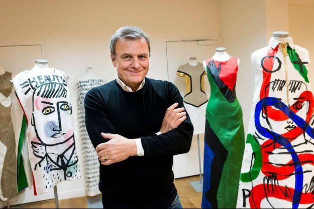 Jean-Charles de Castelbajac dans son atelier parisien début décembre.
