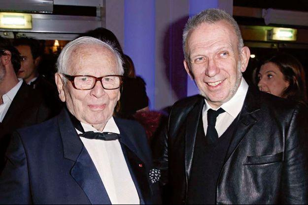 Pierre Cardin et Jean-Paul Gaultier