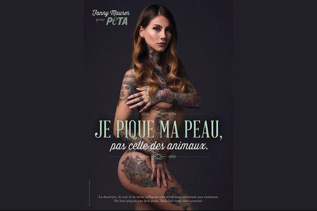 Fanny Maurer dans la nouvelle campagne Peta