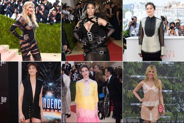 Madonna, Nicki Minaj, Marion Cotillard, Charlotte Gainsbourg, Charlotte Casiraghi, Meredith Ostrom