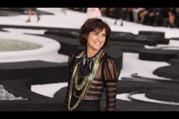 Inès de la Fressange à la semaine de la mode à Paris en octobre 2010.